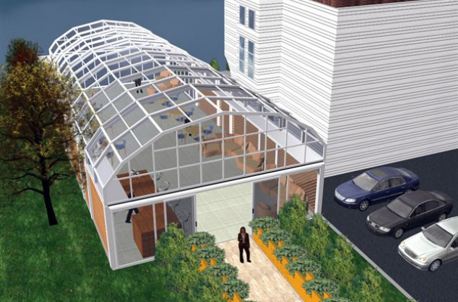 Retractable Restaurant Roof Project #4559 Image 2