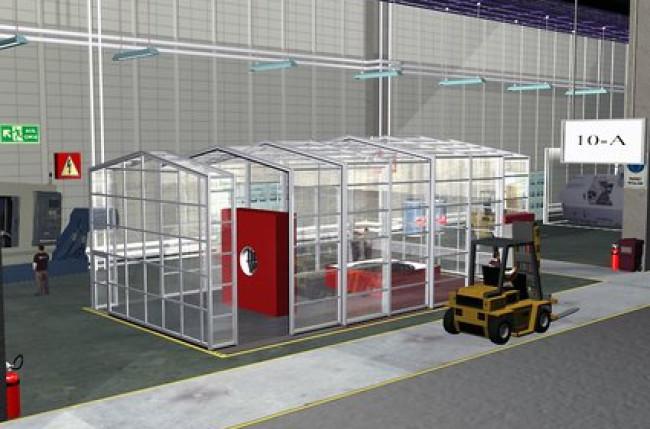 Retractable Clean Room Enclosure #4591 Image 7