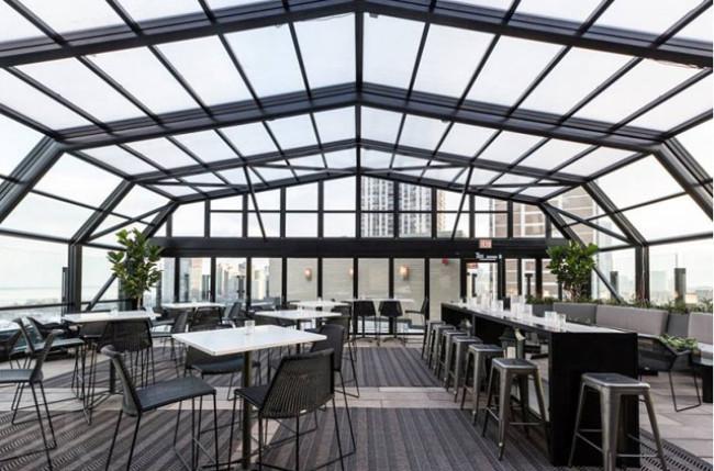 Chicago Restaurant Retractable Roof Enclosure #4655 Image 3