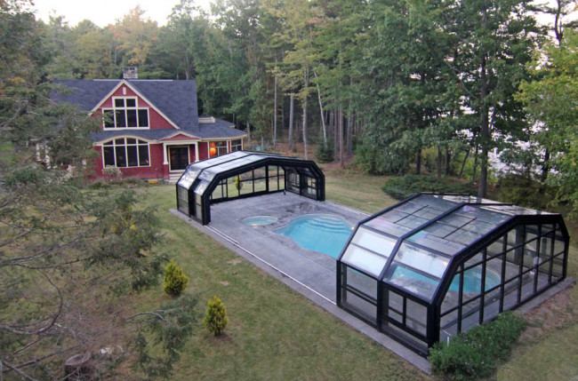 Indoor/Outdoor Pool Enclosure in Maine #2375 Image 15