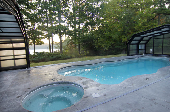 Indoor/Outdoor Pool Enclosure in Maine #2375 Image 10
