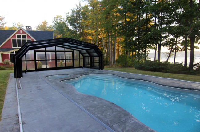 Indoor/Outdoor Pool Enclosure in Maine #2375 Image 9