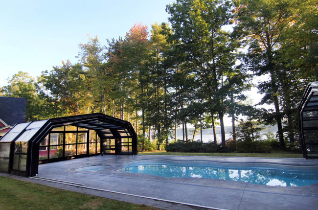 Indoor/Outdoor Pool Enclosure in Maine #2375 Image 7