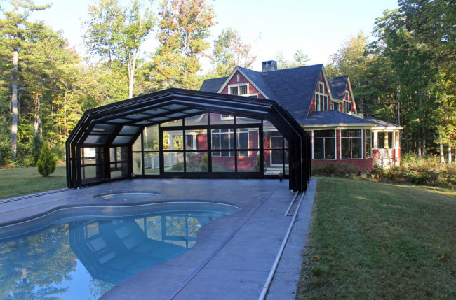 Indoor/Outdoor Pool Enclosure in Maine #2375 Image 5