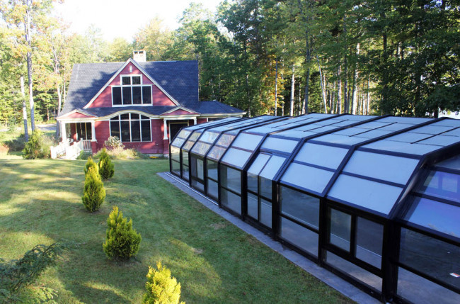 Indoor/Outdoor Pool Enclosure in Maine #2375 Image 17