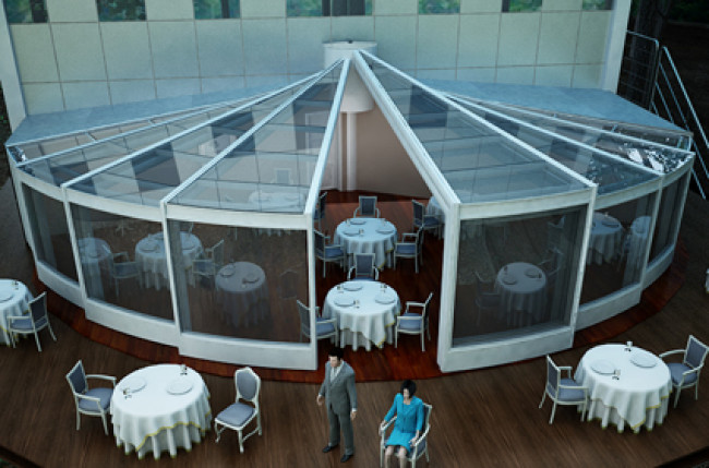 Round Retractable Roof Project #4189 Image 1